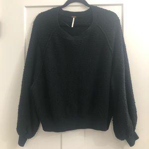 Free People Black Sweatshirt